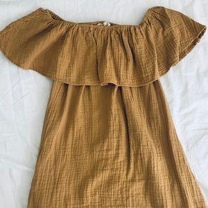 Shoulder-sleeve Mini Dress // Size M